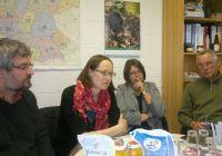 Das Bild Zeigt: Axel Vogel, Ingried Nestele, Cornelia Behm und Dr. Eberhardt Henne (von links nach rechts)